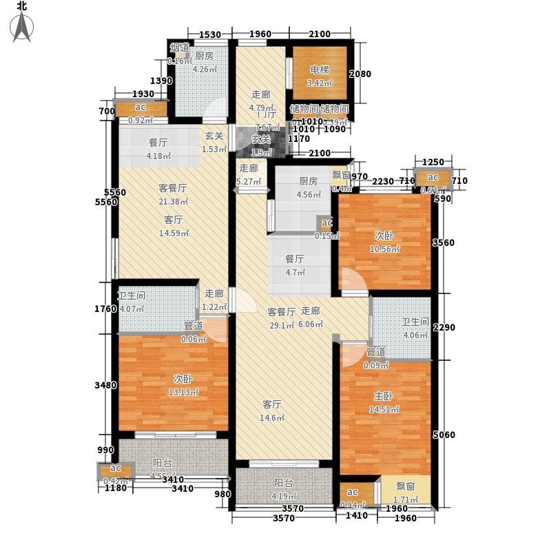 联城·海岸锦城151.41㎡08-A+B户型3室2厅
