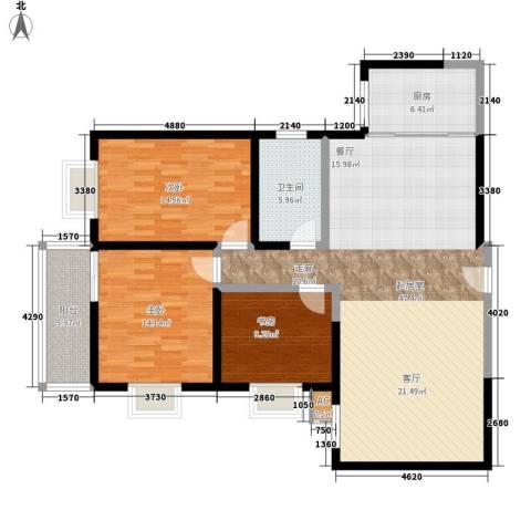 和平花园3室0厅1卫1厨122.00㎡户型图