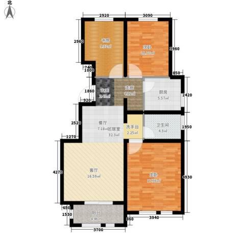 东方国际城3室0厅1卫1厨96.00㎡户型图