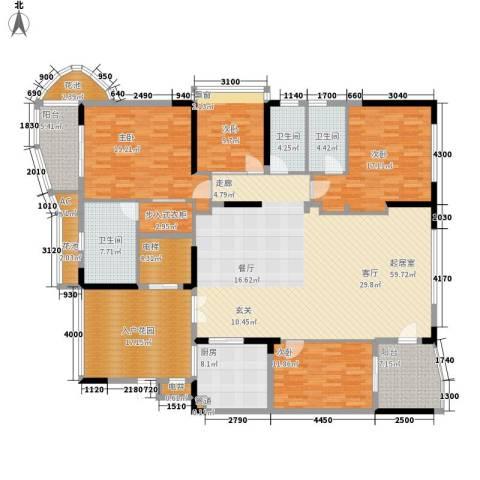 大学城馨园4室0厅3卫1厨199.00㎡户型图