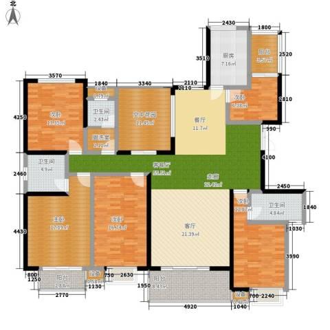 西子湖畔5室1厅3卫1厨199.00㎡户型图