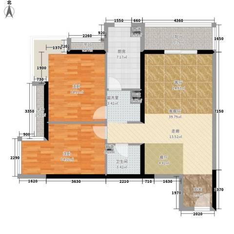 剑桥CLASS2室1厅1卫1厨100.00㎡户型图
