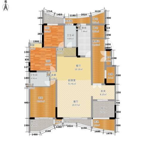 大学城馨园3室0厅2卫1厨159.00㎡户型图