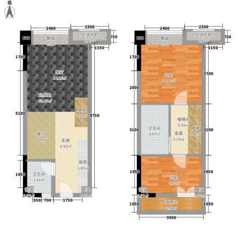 保利新天地2室0厅2卫0厨82.19㎡户型图