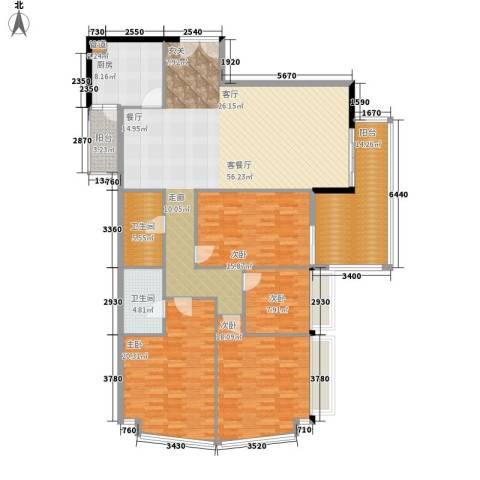 海景花园4室1厅2卫1厨170.00㎡户型图