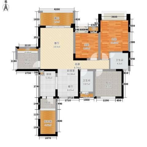 保利星座2室0厅2卫1厨115.00㎡户型图