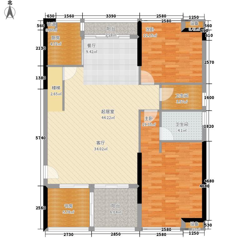 力迅上筑117.14㎡东区C栋双数层面积11714m户型