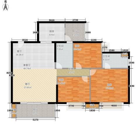 海景花园3室1厅2卫1厨152.00㎡户型图