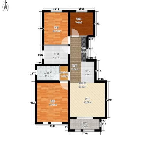 东方国际城3室0厅1卫1厨94.00㎡户型图
