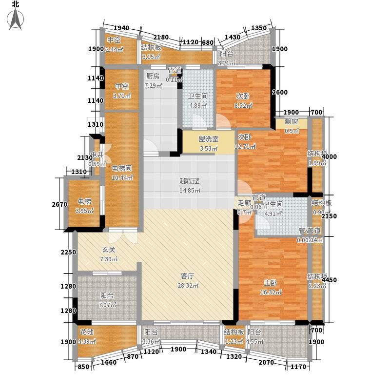 大学城馨园159.40㎡A1、B1栋2-13面积15940m户型