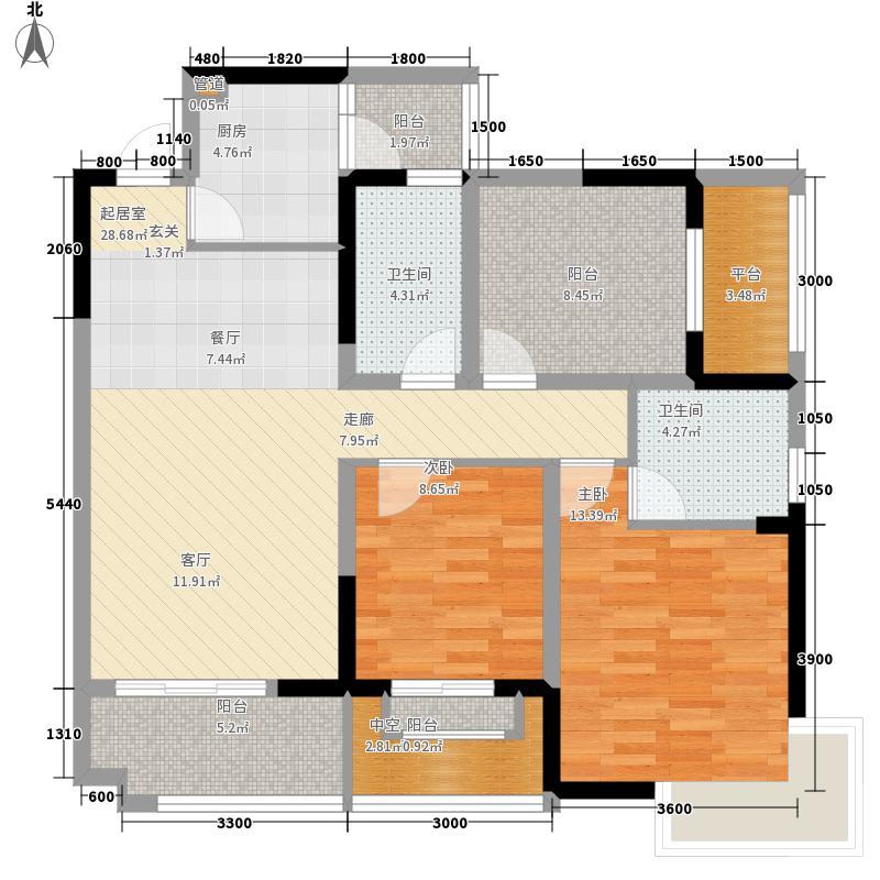 慕和南道98.07㎡10号楼户面积9807m户型