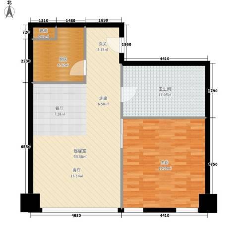 中宏汇景国际1室0厅1卫1厨78.00㎡户型图