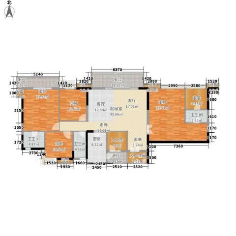 江南新苑4室0厅3卫1厨205.00㎡户型图