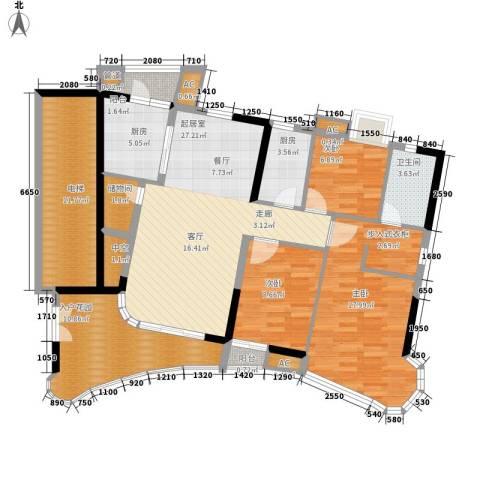 现代城市花园3室0厅1卫2厨118.00㎡户型图