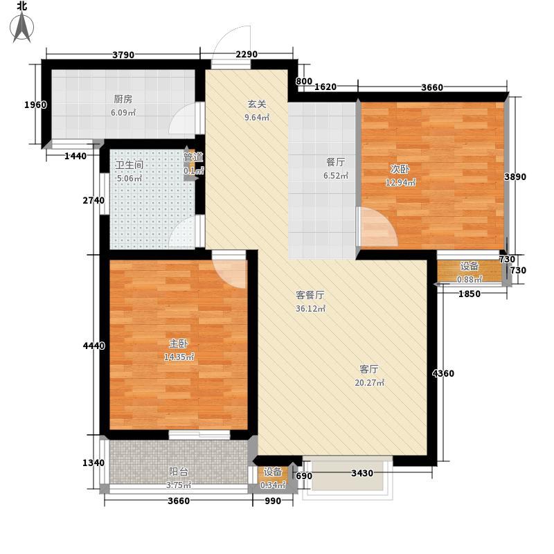 良城国际二期2#1单元标准层E2室户型