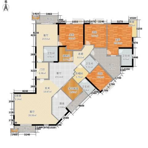利汇名悦大厦4室1厅4卫1厨272.00㎡户型图