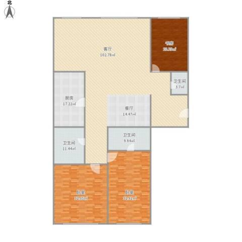 瑞安·君汇1室1厅3卫1厨320.00㎡户型图