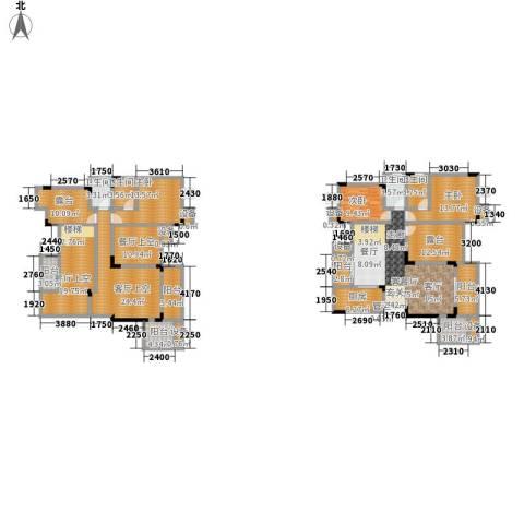 鲁能领秀城3室1厅4卫1厨202.46㎡户型图
