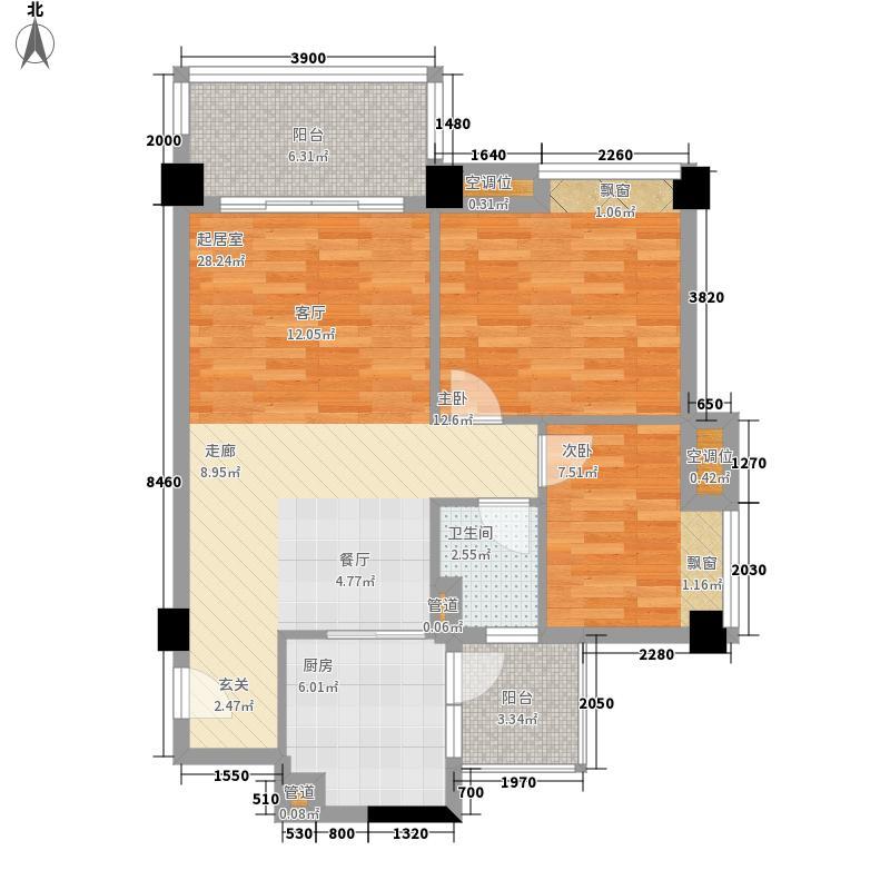 都市品格(福基苑)88.84㎡都市品格A栋05单元2室户型