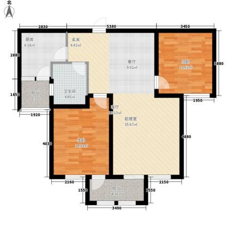 新世纪花园2室0厅1卫1厨113.00㎡户型图