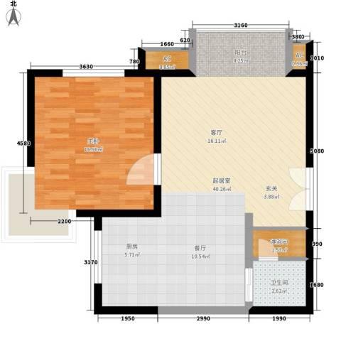 超英长乐家园1室0厅1卫0厨70.00㎡户型图