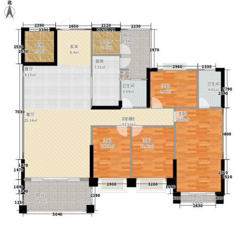 锦绣新天地4室0厅2卫1厨163.00㎡户型图
