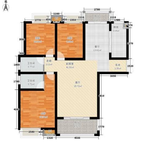 千林世纪城3室0厅2卫1厨128.00㎡户型图