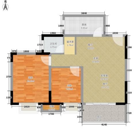 东方银座2室0厅1卫1厨79.00㎡户型图