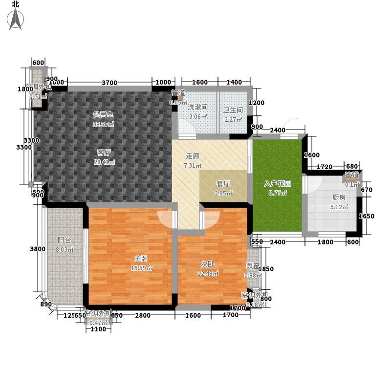 国栋南园五星城119.77㎡一期3号楼标准层B1户型