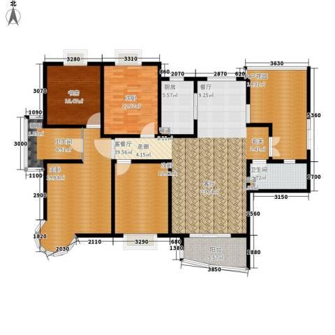 红谷凯旋4室1厅2卫1厨184.00㎡户型图
