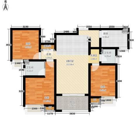 千林世纪城3室0厅2卫1厨105.00㎡户型图