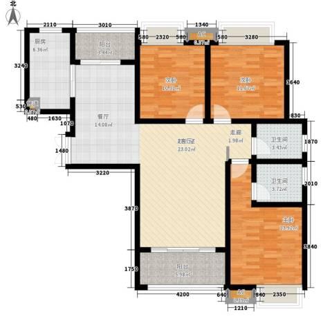 千林世纪城3室0厅2卫1厨127.00㎡户型图