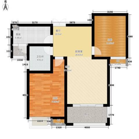 千林世纪城2室0厅1卫1厨94.00㎡户型图