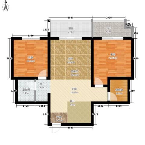 新科花园2室1厅1卫1厨82.00㎡户型图