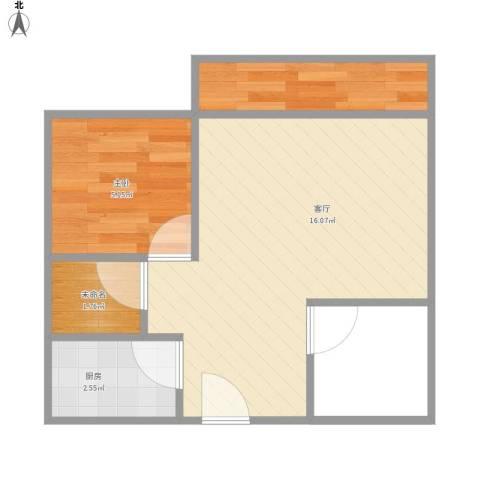 麒麟花园二期2室1厅1卫1厨80.00㎡户型图