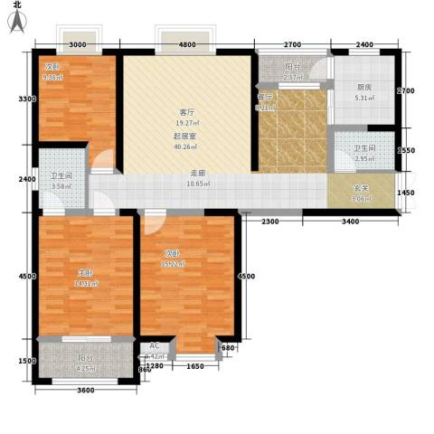 祥和雅居3室0厅2卫1厨113.23㎡户型图