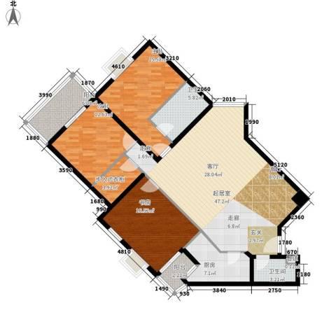 金水大厦3室0厅2卫1厨135.00㎡户型图