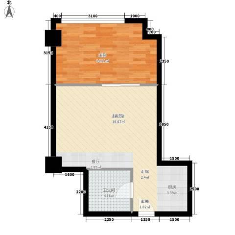 中宏汇景国际1室0厅1卫0厨66.00㎡户型图