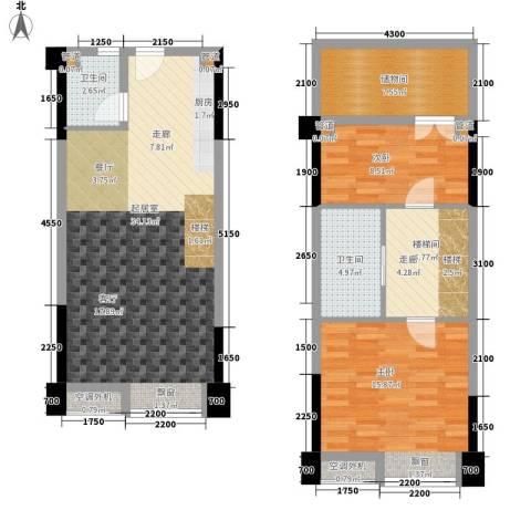保利新天地2室0厅2卫0厨93.68㎡户型图