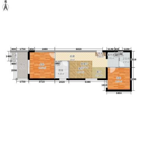 剑桥CLASS2室1厅1卫1厨71.00㎡户型图