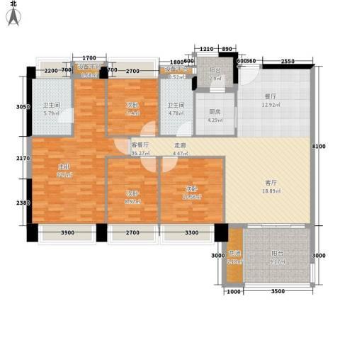 时代花生4室1厅2卫1厨162.00㎡户型图