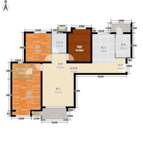 吉祥小区3室0厅1卫1厨127.00㎡户型图