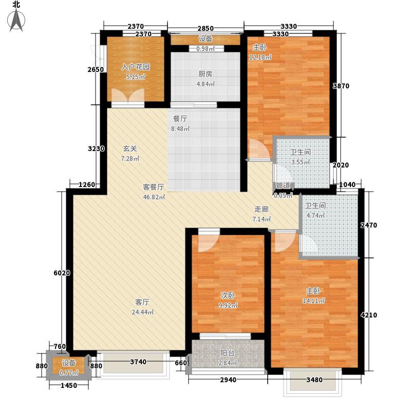 良城国际二期洋房12#标准层A户型