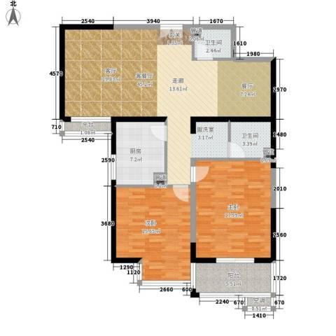 剑桥CLASS2室1厅2卫1厨112.00㎡户型图