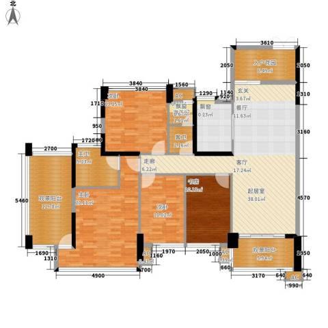 广州雅居乐花园十年小雅4室0厅0卫1厨149.00㎡户型图