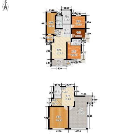 四季阳光花园4室2厅2卫2厨167.00㎡户型图