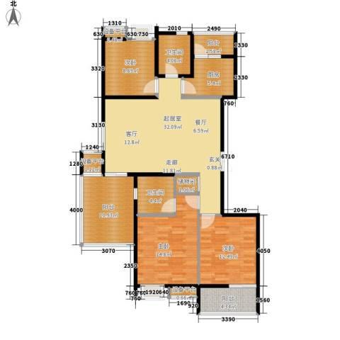 佳馨花园3室0厅2卫1厨110.00㎡户型图