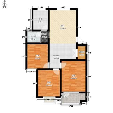 凯旋广场3室0厅1卫1厨90.00㎡户型图