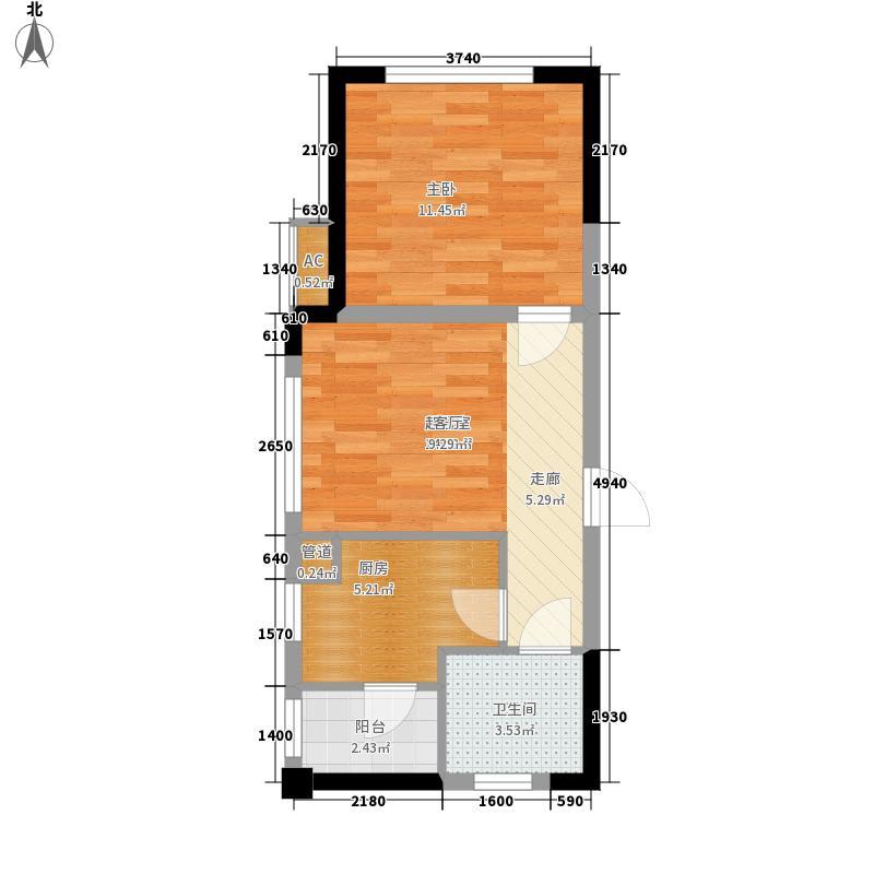 合肥宝能城44.00㎡公寓30#楼E1户型