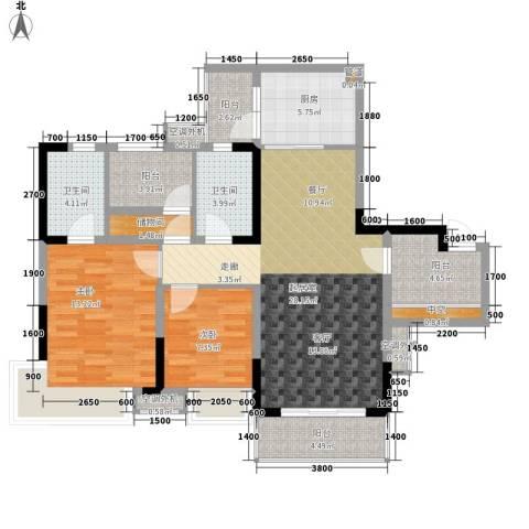 保利新天地2室0厅2卫1厨96.60㎡户型图